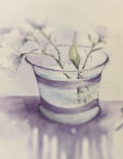 Fiore in bicchiere