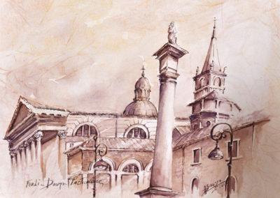 Forli, particolare del Duomo