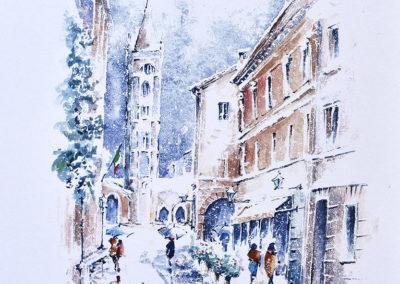 Forli, nevicata