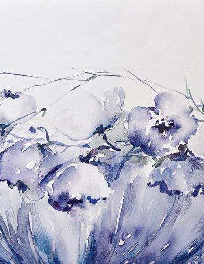 Mazzo di fiori blu