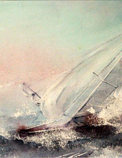 Barca in tempesta
