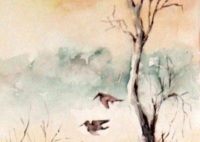 Paesaggio di caccia con uccelli