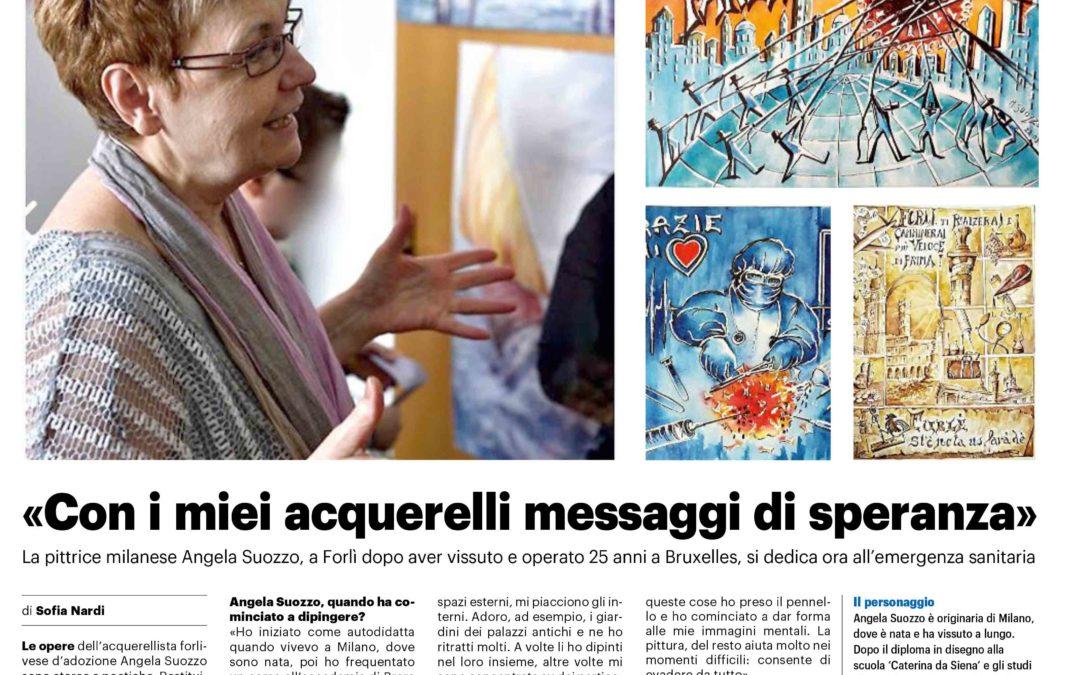Una mia intervista sul Resto del Carlino: acquerelli e coronavirus
