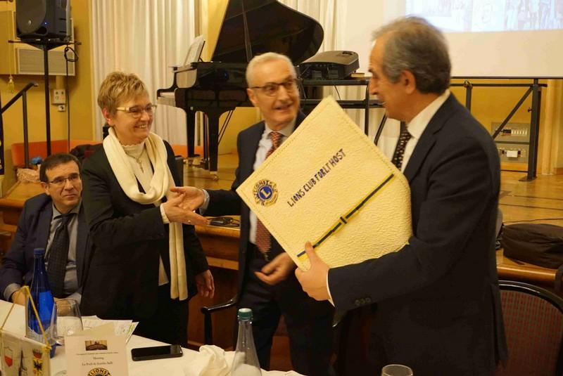 Un acquerello per il sindaco di Forlì